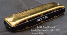 24KT Gold Plated Seydel Session Steel Harmonica
