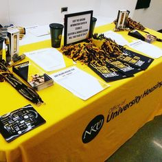 #nkuhousing had our table set up in the Rec and we are excited to see our #futurenorse!!