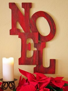 Creative Word Art Reclaimed Wood Holiday Decorating Ideas | Easy Crafts and Homemade Decorating & Gift Ideas | HGTV