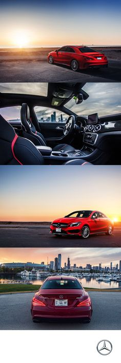 The distinctive AMG elements of the CLA45 AMG make it the best of its breed in styling, price, and speed.   #MBPhotoCredit: Jeremy Cliff