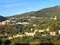Corsica - L'Alta-Rocca - Vue d'Olmiccia dominé par Ste-Lucie-de-Tallano - Olmiccia est une commune française située dans le département de la Corse-du-Sud.Le village appartient à la microrégion du Tallano, dans l'ouest de l'Alta Rocca.