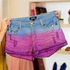 DIY: Make Your Own Pair of Dip-Dye Shorts