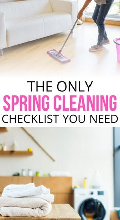 Spring cleaning checklist - A thorough spring cleaning in the roomChecklist for spring cleaning - a thorough spring cleaning by room Make your spring cleaning less play with this thorough infographic for the checklist Steam Cleaning, Deep Cleaning, Cleaning Hacks, Spring Cleaning Checklist, Storage Design, Hidden Storage, Home Free, Clean House, Cheating
