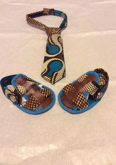 Baby tie and sandals $20