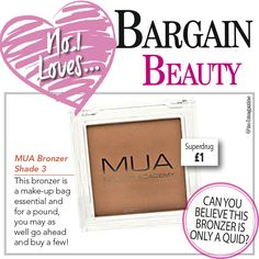 Can you believe this is only £1? #no1magazine #scotland #superdrug #bronzer #bargainbeauty