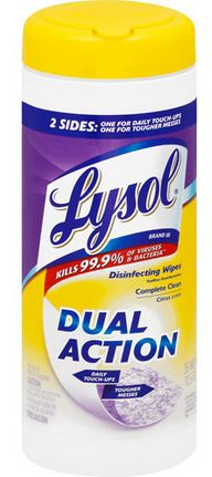 Get free Lysol Dual Action wipes with a new rebate offer! Just purchase a 35-count container between 3/4 - 4/1 and follow these steps:Rebate Requirements:Purchase a single unit 35-count container of Lysol Dual Action wipes between 3/4-4/1.Mail original register receipt, original UPC symbol and completed rebate form