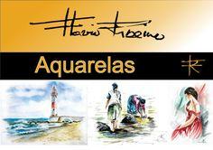 Aquarelas de Flávio Ribeiro