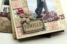 """Mini album """"Une famille en hiver"""" ... - Le Scrap de Patmiaou Mini Album Scrapbook, Mini Albums Scrap, Scrapbooking, Creative, Mini Mini, Frame, Cards, Journal Ideas, Journals"""