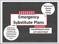 Emergency sub plans for grades 3-6There are few things teachers hate more than writing sub plans, especially when youre too sick to drive yourself to school and get it all ready!  Allow yourself a day of real rest and recovery by just pointing the sub in the direction of your emergency sub tub or sub file.