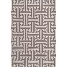 Smithsonian Archive Winter White Hand Woven Wool Rug