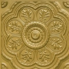 gold ceiling tile #architecture #creative #house #architexture #vintage…