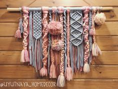 Macrame art. Yarn wall hanging. Find it at @uyutnaya_homedecor