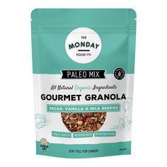 Muesli and Granola Archives Paleo Muesli, Granola, Pecan, Vitamins, Berries, Vanilla, Nutrition, Wellness, Food