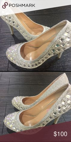 Evening shoes 👠 Glitter hand made stone very fancy Shoes Heels