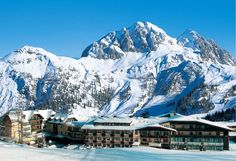 Winter time at ski resort Gartnerkofel in Austria :-) Top Hotels, Best Hotels, Heart Of Europe, Ski Slopes, Das Hotel, Felder, Winter Time, Alps, Night Club