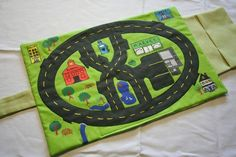 On-the-go Car Mat by BeepsPeeps on Etsy Sewing For Kids, Baby Sewing, Diy For Kids, Gifts For Kids, Car Play Mats, Car Mats, Operation Christmas Child, Go Car, Travel Toys