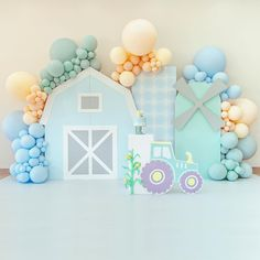 Simple Birthday Decorations, Balloon Decorations Party, Valentine Decorations, Baby Shower Decorations, Boys 1st Birthday Cake, First Birthday Party Themes, Custom Balloons, Festa Party, Farm Party