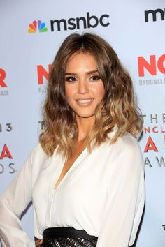 Jessica Alba's Beautiful Curls + Ombre