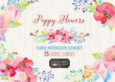 Poppy Flower by helloPAPER on Creative Market