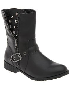 Wide Ankle Embellished Moto Boot by Lane Bryant   Lane Bryant