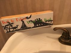 Wash your hands or go extinct sign