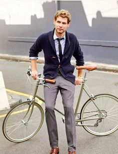 Vintage bike. Windswept hair. Toggles. Strong hands. A gentlemanly gaze. An appreciation for pecans. Respect for the media. Sir, I'd like you to meet my friend.