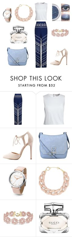 """""""Indigo rose"""" by margaret-ann-robinson on Polyvore featuring BCBGMAXAZRIA, Canvas by Lands' End, Charlotte Russe, Nine West, DIANA BROUSSARD, BaubleBar and Gucci"""
