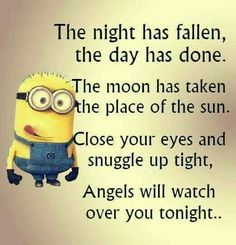Funny quotes sweet dreams funny memes about minions funny minion memes funny good night sweet dreams Cute Quotes, Great Quotes, Funny Quotes, Inspirational Quotes, Funny Memes, Top Quotes, Quotes Images, Amor Minions, Minions Quotes