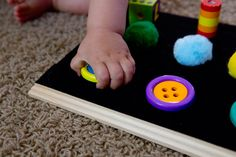 DIY Baby Velcro Board | Motherhood in the Trenches