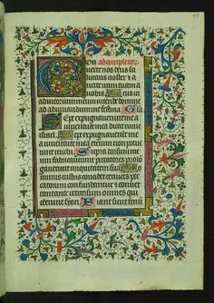 Book of Hours, Initial, Walters Manuscript W.249, fol. 85r | Flickr - Photo Sharing!