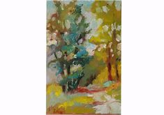Art Hearty Original Large Oil Painting Canvas Forest Trees Office Interior Design Geebeeart