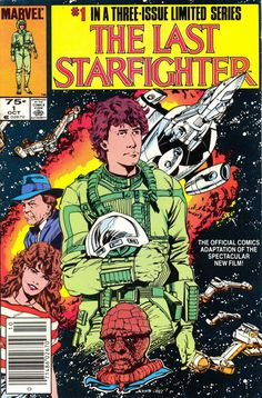 The Last Starfighter #1, October 1984, cover by Jackson Guice
