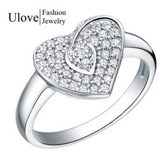 Find More Rings Information about Platinum Plated Heart Love Aliancas De Casament Jewelry Ring O Engagement Ring Wedding Acessorios Sterling Silver Jewelry,High Quality jewelry ring,China ring clamp jewelry Suppliers, Cheap jewelry findings rings from Ulovestore Jewelry on Aliexpress.com