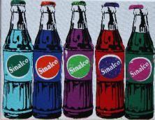 Nicolas NOVERRAZ                                        Sérigraphie 5 Sinalco multicolores (n°639) Andy Warhol, Oeuvre D'art, Les Oeuvres, Coca Cola, Sculpture, Bottle, Artist, Photography, Paint