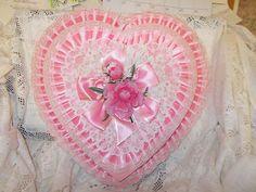 Vintage Valentine Pink Heart Candy Box Large | eBay