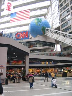 Inside CNN Center, Atlanta, GA - I think I touted the CNN studio in 2005-ish. It was REALLY cool. Although I'm conservative. ;)