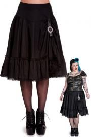 9efe8d2bcb3 Henrietta Black Cotton Skirt with Buckle   Frills by Spin Doctor Cotton  Skirt