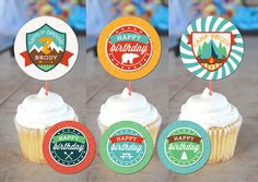 Let's Go Camping Printable Cupcake Toppers / by JamesPaigeDesign, $12.00