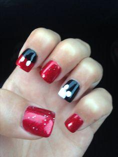 Disney world nails! Love Mickey