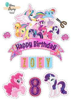 My Little Pony Cumpleaños, My Little Pony Poster, Cumple My Little Pony, Little Poney, My Little Pony Printable, My Little Pony Stickers, Festa Rainbow Dash, My Little Pony Decorations, My Little Pony Wallpaper