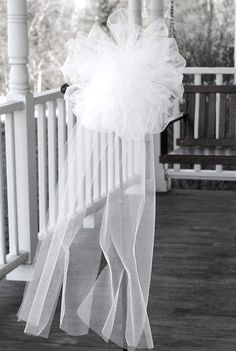 305 best diy wedding decorations crafts images on pinterest tulle pew bow httpjillruth201104 wedding pew bowspew decorations junglespirit Gallery