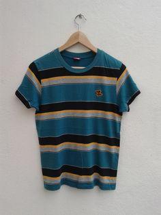 PUMA Sportswear Stripes Style Vintage Athletes Inspire Running T-Shirt Size 160 by BubaGumpBudu on Etsy Mens Tee Shirts, T Shirt, Hang Ten, Stripes Fashion, Spring Sale, Athletes, Sportswear, Inspire, Running