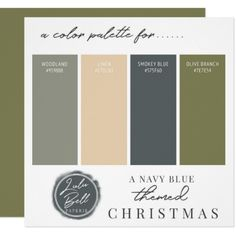 Shop Olive Green Navy Blue & Gold Color Palette Card created by GraphicBrat. Green Color Schemes, Room Color Schemes, Basement Color Schemes, Color Combinations, House Exterior Color Schemes, Exterior Color Palette, Interior Design Color Schemes, Olive Green Paints, Olive Green Color