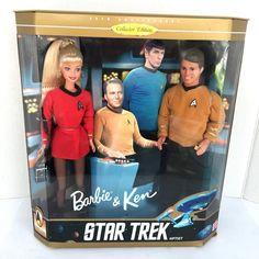 Star Trek Barbie & Ken Doll Gift Set Collector Edition 30th Anniversary 1996 #Mattel #Dolls