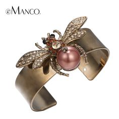 Cuff bangle gold plated metal bangles for women autumn new insect series pulseiras femininas animal bangle bijoux  Like and Share if you agree! #Jewelry #shop #beauty #Woman's fashion #Products