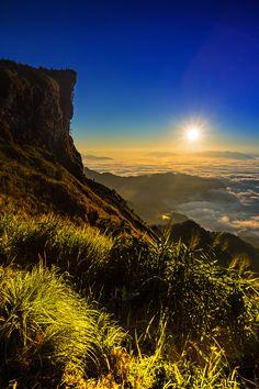 Chiang Rai, Thailand, in the early morning.  #Sunrise #ChiangRai #Thailand