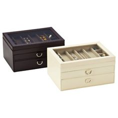 Exceptionnel Jewelry Box Container Store Jewelry Storage Jewelry Organization 35  Compartments Velveteen Lining