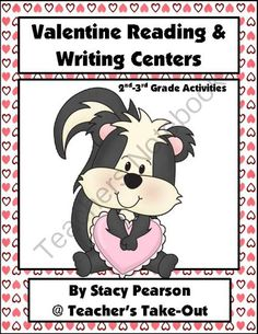 Valentine Reading and Writing Centers! Enter for your chance to win 1 of 3.  Valentine Reading and Writing Centers (36 pages) from Teachers Take Out on TeachersNotebook.com (Ends on on 1-30-2014)  Reading and Writing Centers for 2nd-3rd Grade Classrooms with a Valentine Theme
