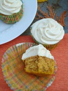 pumpkin spice cupcakes with cream cheese