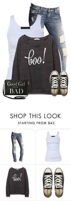 """Halloween Sweaters"" by cindycook10 ❤ liked on Polyvore featuring 7 For All Mankind, Tusnelda Bloch, Converse and Torrid"